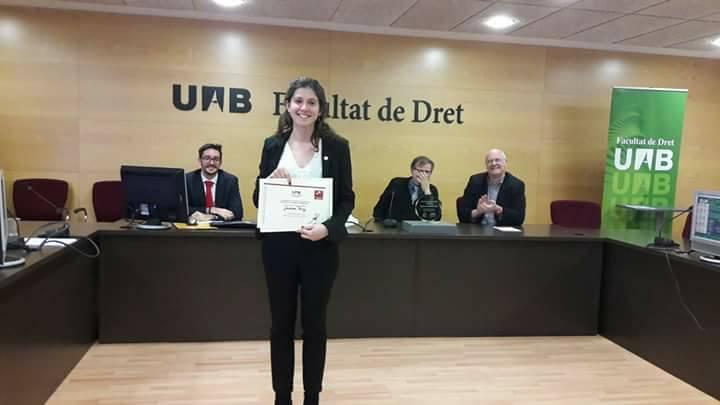 Jordina Pérez millor oradora II torneig de debat jurídic en català